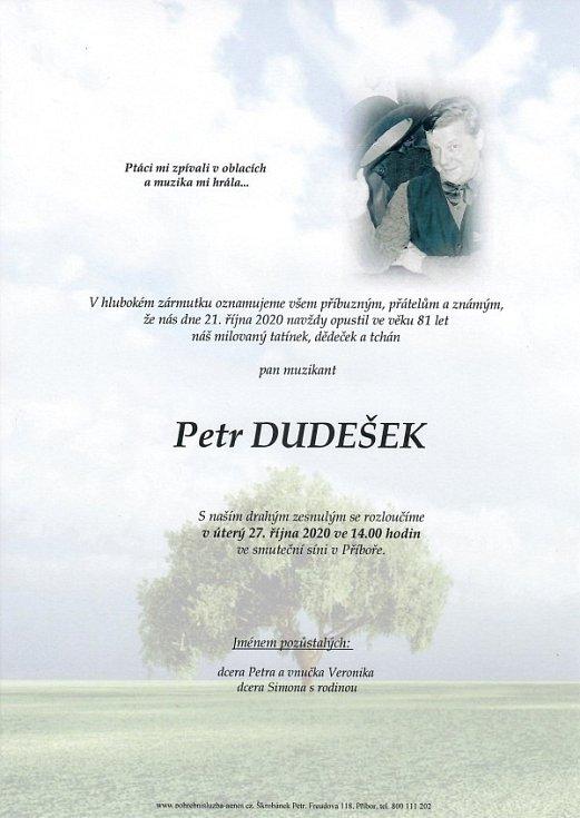 Zemřel Petr Dudešek, zakladatel legendární skupiny Buřinky a Berušky Petra Dudeška.