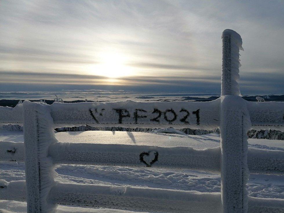 Novoroční horské přání od Miroslava Paluzgy.