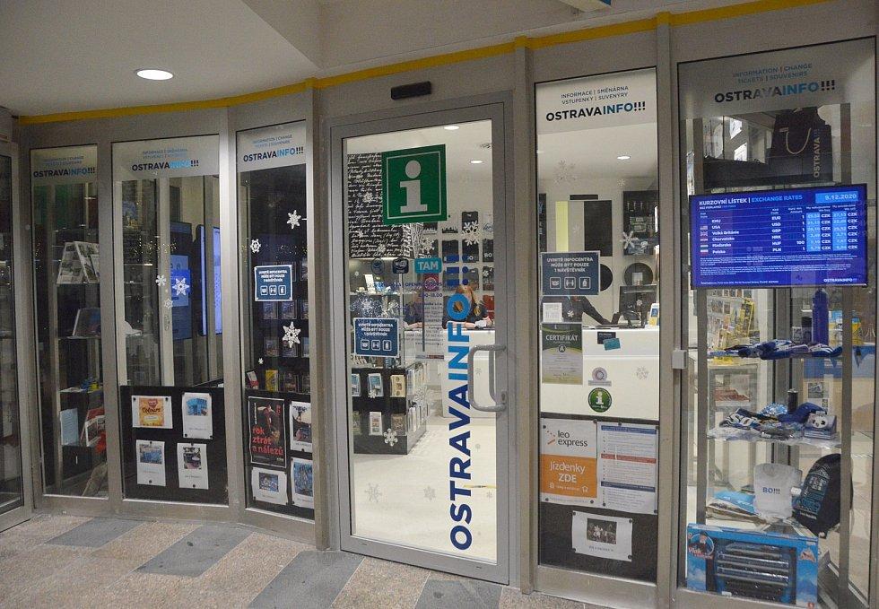 Infocentrum na hlavním nádraží Ostrava.