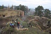 Zřícenina Šelenburku je místem, kam se krnovští turisté vydávají 1. ledna přivítat nový rok.