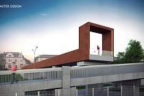 Vizualizace. Nové podoby se v blízké době dočká lávka nad stadionem Bazaly i přilehlá veřejná prostranství.