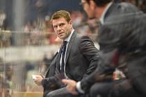 Utkání mistrovství světa hokejistů do 20 let: ČR - USA, 30. prosince 2019 v Ostravě. Na snímku trenér Česka Vaclav Varada.