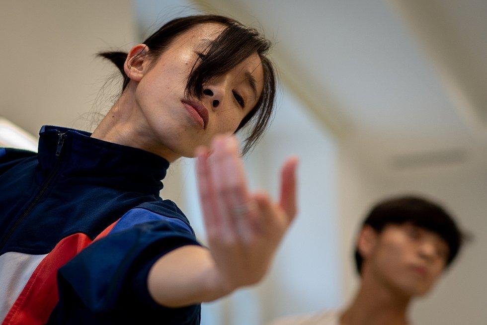 Jeden den s baletkou Shino Sakurado, 5. dubna 2019 v Ostravě. Shino na krátkém odpoledním tréninku před večerním představením.