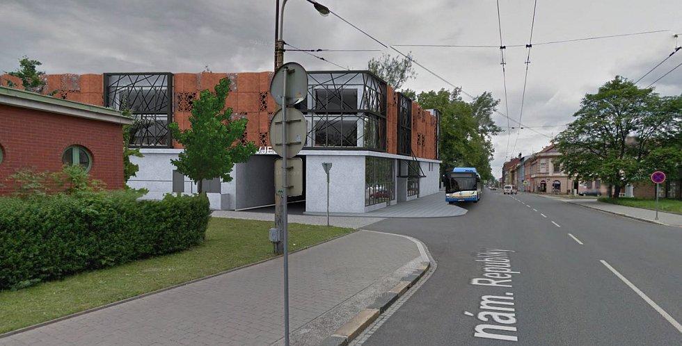 Parkovací dům u Městské nemocnice v Ostravě, studie.