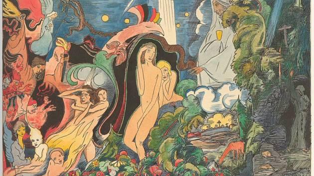 Ukázka tvorby Josefa Váchala.