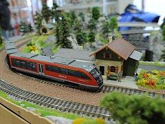 Výstava modelů železnic a vláčků.