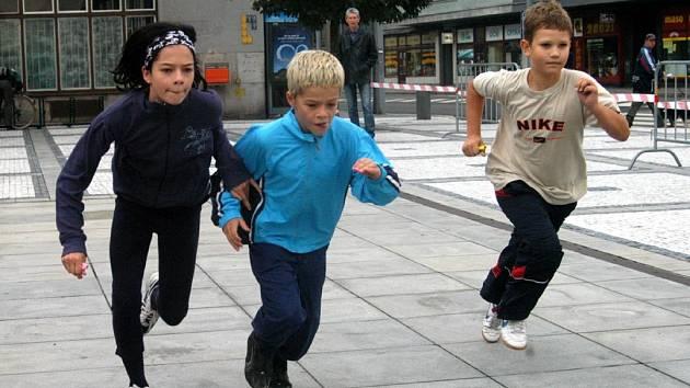 Počasí nejmladší běžce neodradilo
