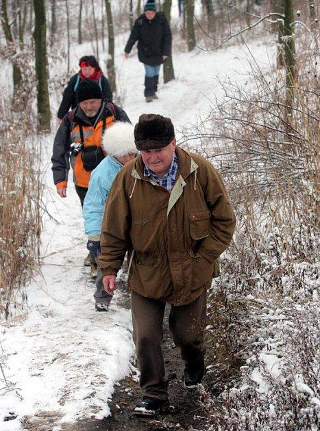 Novoroční výšlap na haldu Emu v lednu 2008