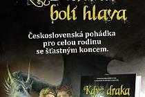 Přebal knihy Když draka bolí hlava, kterou napsali dvojjazyčně Petr Šiška a Dušan Rapoš s působivými ilustracemi Martina Schwarze.