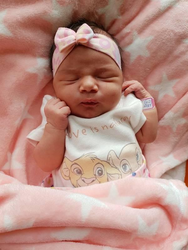 Aneta Laciová, Břidličná, narozena 9. června 2021 v Opavě, míra 50 cm, váha 3350 g. Foto: Lucie Dlabolová, Andrea Šustková