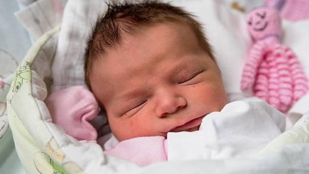 Anna Opattová z Karviné-Nového Města, narozena 12. dubna 2021 v Karviné, míra 50 cm, váha 3830 g. Foto: Marek Běhan