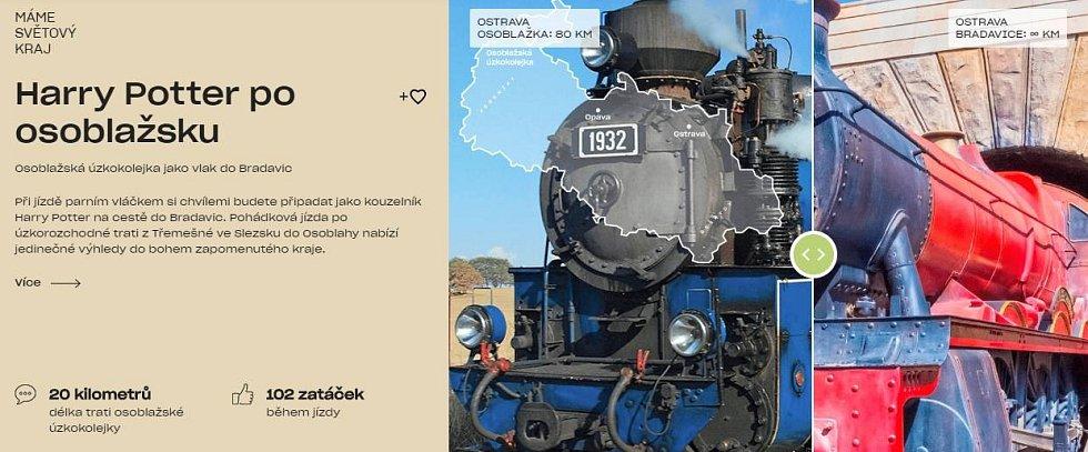 """Snímek z marketingové kampaně """"Máme světový kraj"""", která vznikla s cílem motivovat návštěvníky k trávení volného času v Moravskoslezském kraji."""
