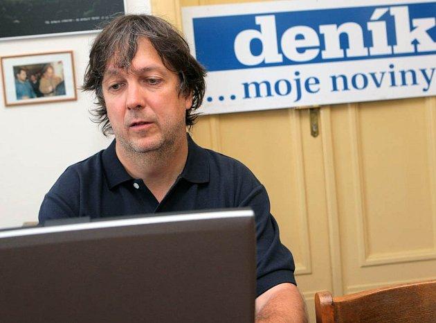 Aleš Najbrt při on-line rozhovoru v Moravskoslezském deníku