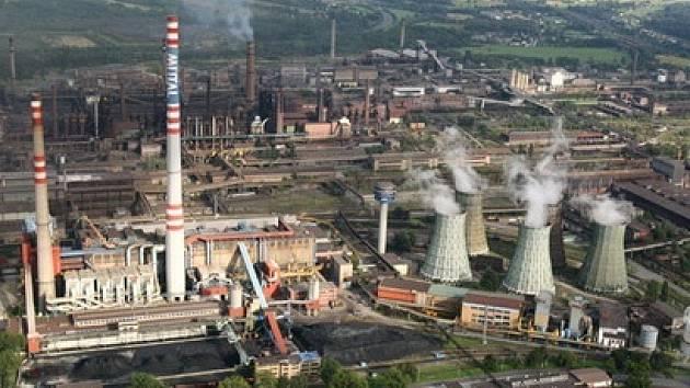 Pohled na hutní podnik ArcelorMittal Ostrava