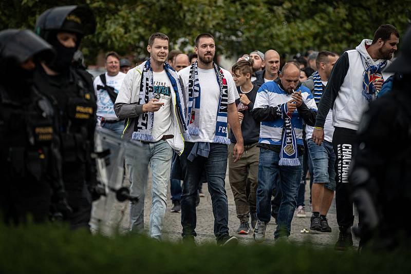 Fanoušci Baníku v Olomouci.