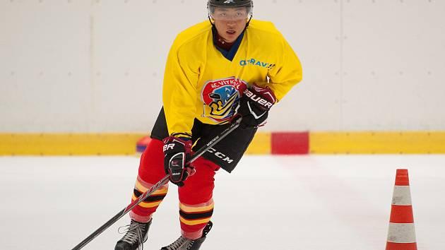 Letní příprava hokejistů HC Vitkovice Ridera spolu s čínskými hráčiv Ostravě.