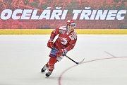 Utkání 9. kola hokejové extraligy: HC Oceláři Třinec - HC Sparta Praha, 12. října 2018 v Třinci. Na snímku Ethan Werek.