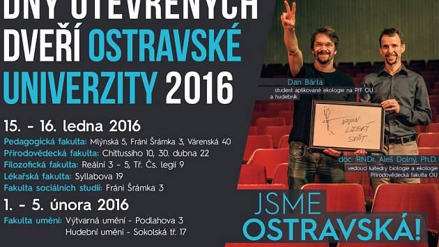Jeden z plakátů ke kampani Jsme Ostravská!