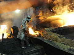 Foto z ostravské huti ArcelorMittal
