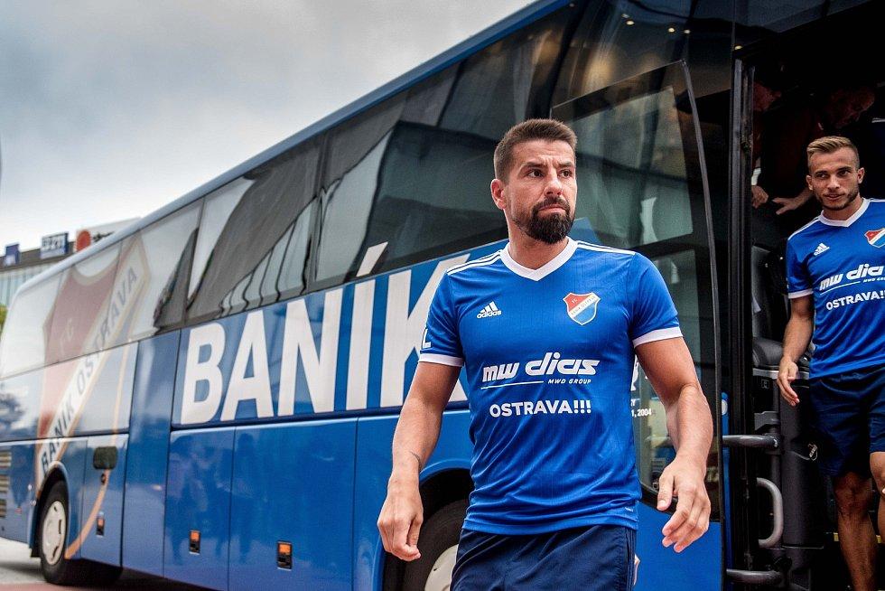 Autogramiáda fotbalového týmu FC Baník Ostrava v nákupním centrum Forum Nová Karolina (FNK), 9. září 2019 v Ostravě.