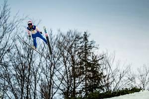Skoky na lyžích - Světový pohár FIS ve skoku na lyžích - Wisla, Polsko, 23. listopadu 2019. Na snímku Koudelka (CZE).