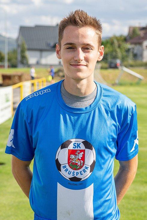 Fotbalový klub - Spolek SK Brušperk, 26. srpna 2020 v Brušperku. Erik Nitka (záložník)