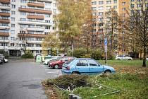 Ulice 29. dubna, Srbská, Jičínská a Výškovická v Ostravě-Jihu jsou plné děr.