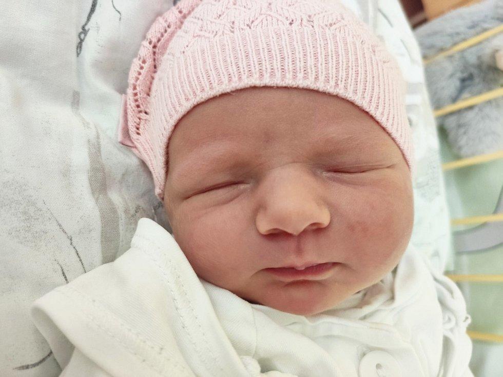Albertina Riemlová, Kravaře, narozena 17. června 2021 v Opavě, míra 49 cm, váha 3060 g. Foto: archiv rodiny