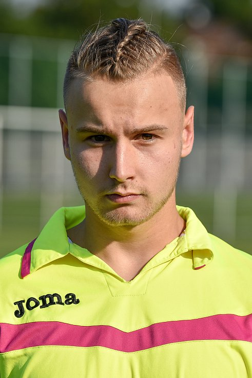 Fotbalový klub TJ Unie Hlubina, 7. srpna 2020 v Ostravě. Matěj Nerud, brankář