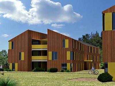 Ilustrační vizualizace domů stavěných RK Sting