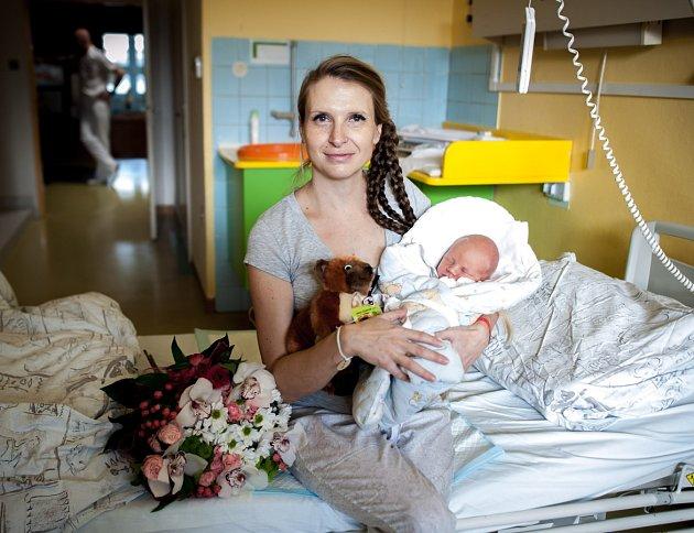 Alexandra Mocová se synem Tomáškem.