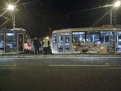 Nehoda tramvají na snímku z facebooku od uživatele Alfons Pedro Hynek
