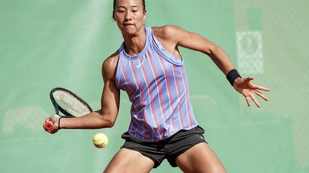 Sedmnáctiletá čínská tenistka Čeng Čchin-wen vyhrála v neděli 20. září turnaj Frýdek-Místek Open Cup s dotací 25 tisíc dolarů. Foto: Frýdek-Místek Open Cup/Pavel Sonnek