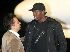 Alfonz Juck (na snímku vlevo) s Usainem Boltem.