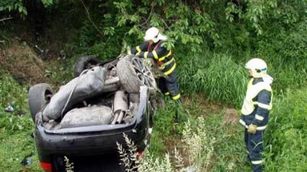 Nehoda u Hrabyně na Opavsku