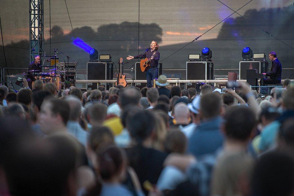 Jaromír Nohavica na festivalu Štěrkovna Open Music 2018, 24. července 2018 v Hlučíně.