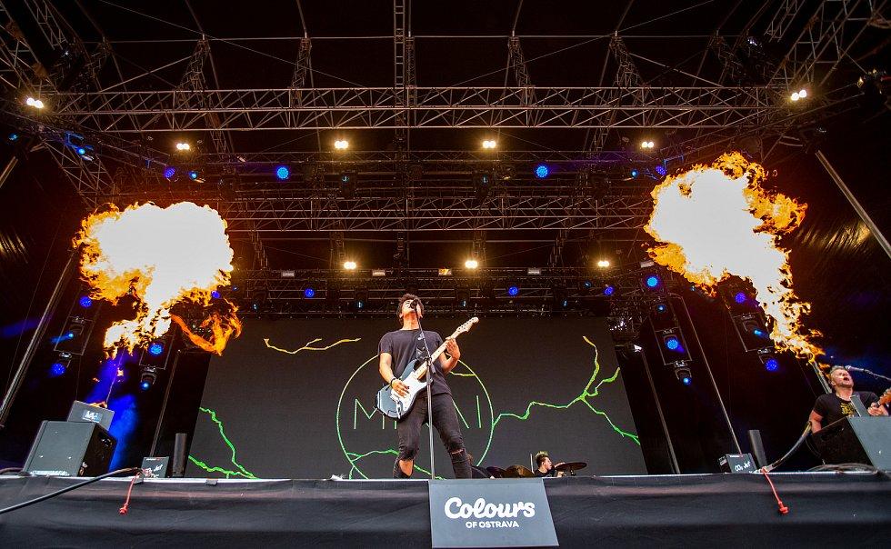 Hudební festival Colours of Ostrava 2019 v Dolní oblasti Vítkovice, 19. července 2019 v Ostravě. Na snímku skupina Mirai.