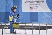 Olympijský festival u Ostravar Arény, 12. února 2018 v Ostravě. Běžky.