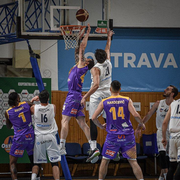 Basketbalová liga mužů - NH Ostrava – Ústí nad Labem, 12. prosince 2020 v Ostravě.
