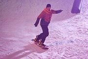 Olympijský festival u Ostravar Arény, 15. února 2018 v Ostravě. Snowboard.