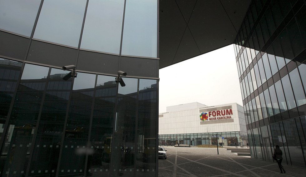 Administrativní budova Nová Karolina Park v centru Ostravy.