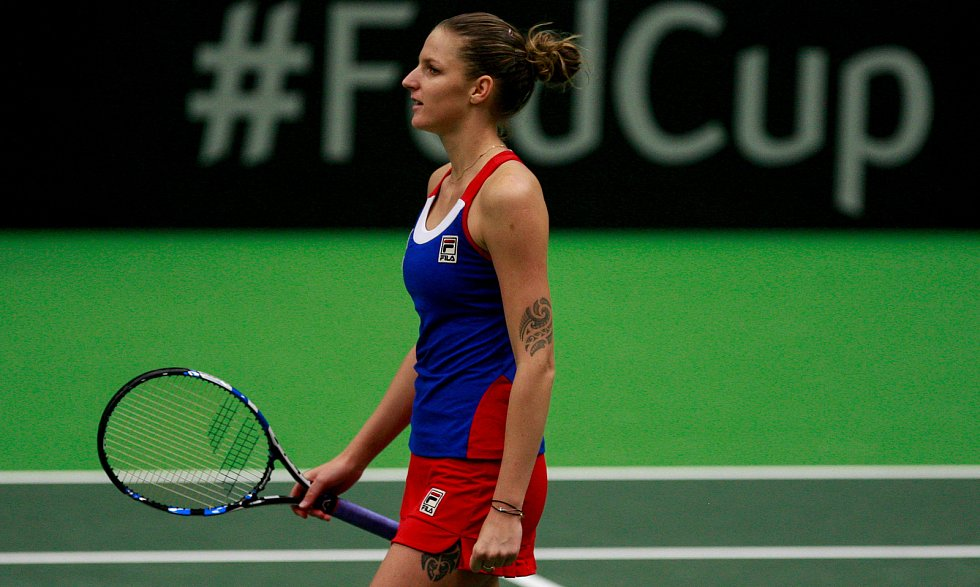 Karolína Plíšková, Fed Cup, 12. února 2017 v Ostravě.