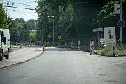 Oprava silnic, 12. června 2019 v Ostravě. Na snímku ulice Orlovská.