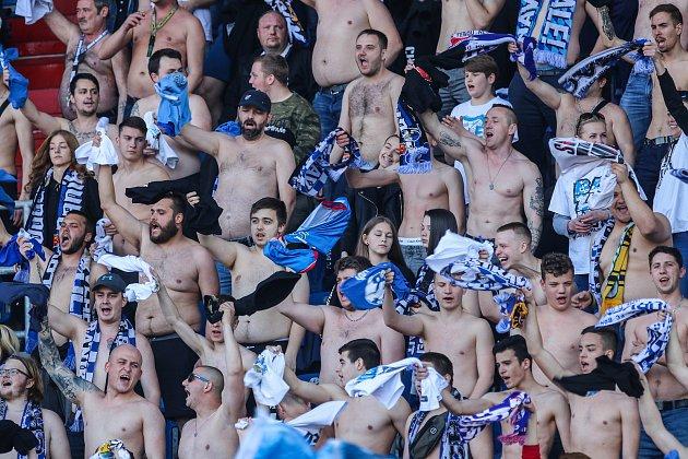 Utkání 27.kola první fotbalové ligy: FC Baník Ostrava - FK Teplice, 7.dubna 2019vOstravě. Na snímku fanoušci Baníku.