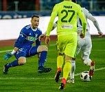 FC Baník Ostrava – MFK Karviná, zleva Martin Berkovec, Filip Panák, Robert Hrubý