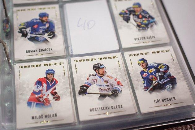 Sběratelé hokejových karet se sešli vrestauraci Na Plynární, 8.prosince 2018vOstravě.