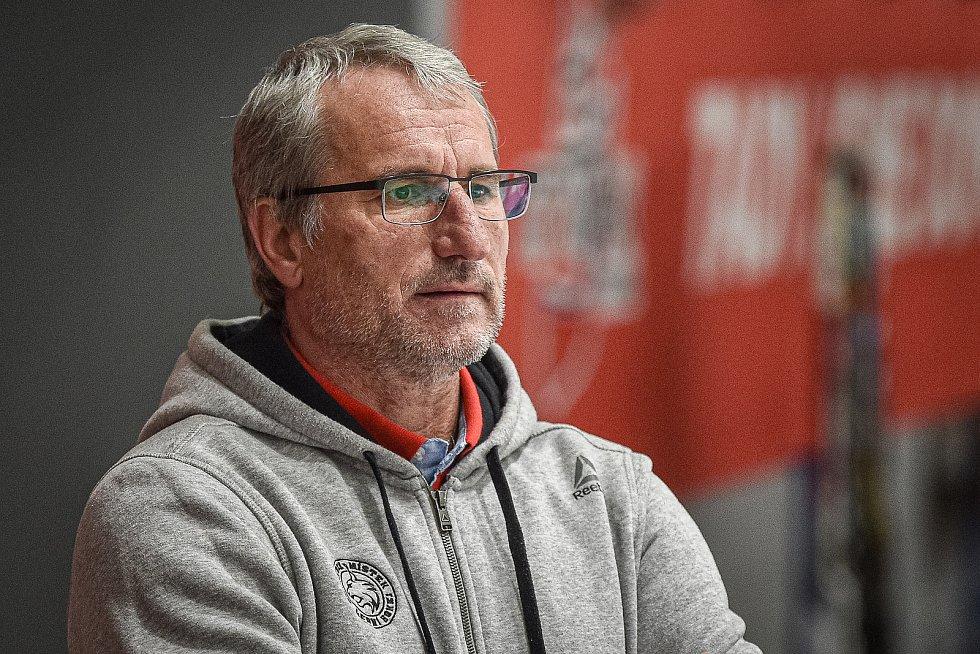 Hokejová Chance liga HC RT TORAX Poruba  - HC Frýdek-Místek, 4. ledna 2021 v Ostravě. Mojmír Trličík