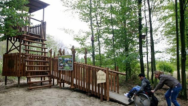 Klimkovický posed je přístupný i pro vozíčkáře.