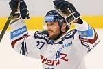Utkání 3. kola hokejové extraligy: HC Vítkovice Ridera - Bílí Tygři Liberec, 20. září 2019 v Ostravě. Zleva Rastislav Dej z Vítkovic.