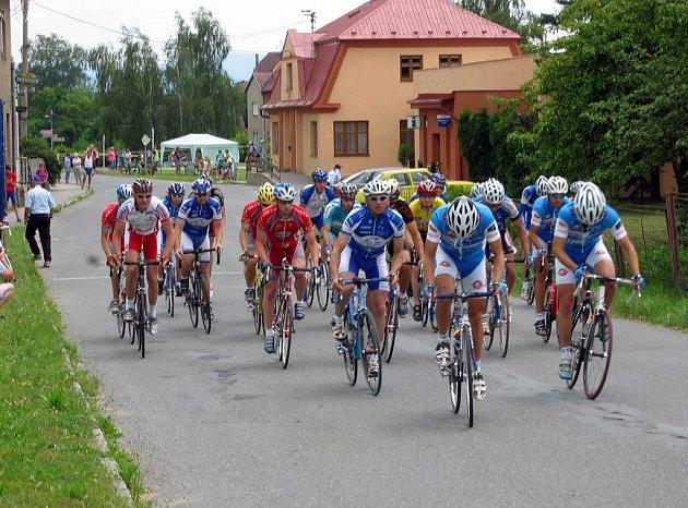 Ze závodu Slezského poháru amatérských cyklistů